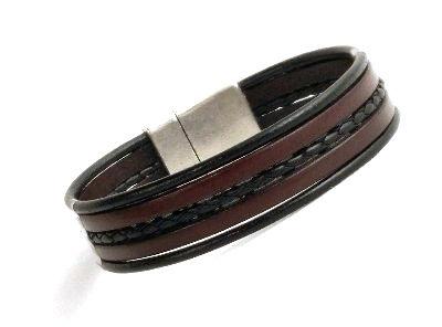 Feines Armband dunkelbraun-schwarz