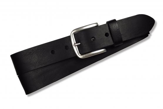 Klassischer Jeansgürtel für Herren in Farbe: schwarz