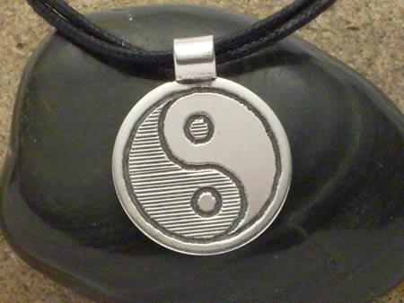 Yin und Yang Silberamulett - klein