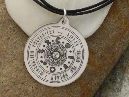 Astrologisches Sonnenamulett Silberamulett - groß