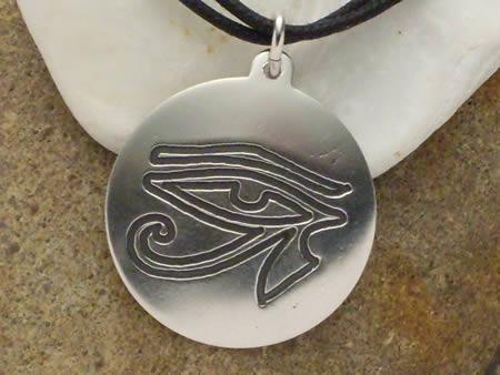Silberamulett Horus-Auge