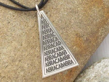 Silberamulett Abracadabra