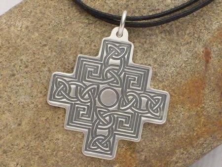 Silberamulett Altkeltisches Kreuz
