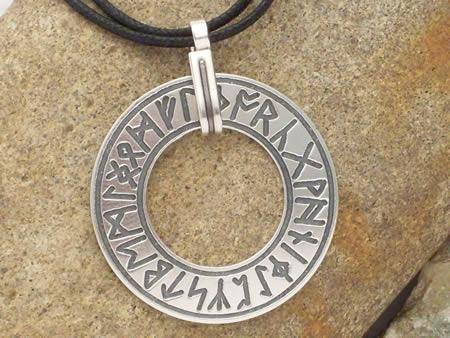 Silberamulett Runenring