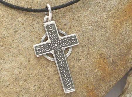 Silberamulett Keltisches Zeremonienkreuz