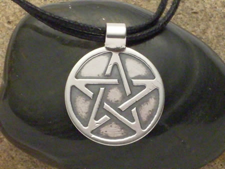 Silber Amulett Pentagramm