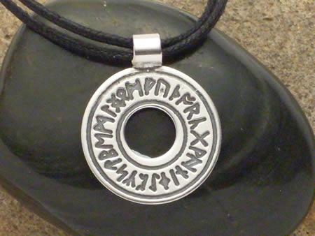 Amulett in Silber Runenring