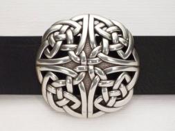 Runde Gürtelschnalle in keltischem Design
