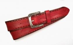 Modischer Jeansgürtel für Damen in rot
