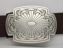 Koppelschließe, rechteckig mit indianischem Motiv