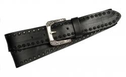 Modischer Jeansgürtel für Damen in schwarz