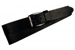 Herrengürtel, schwarz mit schmaler Schnalle.