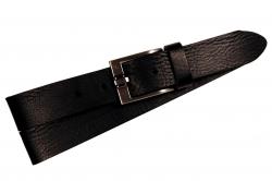 Herrengürtel, schwarz mit eleganter Schnalle.