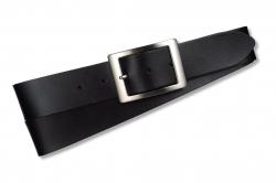 Weicher Damengürtel in Farbe: schwarz