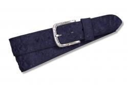 Damengürtel mit Prägung in dunkelblau
