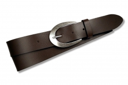 Ledergürtel für Damen in der Farbe : taupe