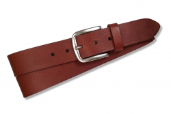 Klassischer Jeansgürtel für Herren in Farbe: cognac