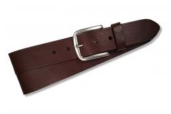 Klassischer Jeansgürtel für Herren in Farbe: dunkelbraun