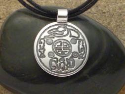 Altkoreanische Glücksmünze Silber Amulett